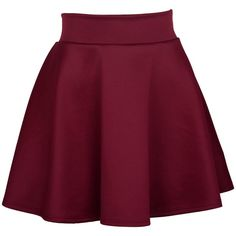 Womens Basic Solid Color Flared Skater Skirt at Amazon Women's... ($4.99) ❤ liked on Polyvore featuring skirts, flared skater skirt, skater skirt, circle skirt, flared skirt and purple skirt