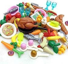 Amazon.com: ZHX 82PCS Foods Building Blocks Sets Hot Dog Pizza Turkey Cream Food Set Fruit Bricks Toys City Accessories Parts for Children: Toys & Games Play Food Set, Diy Dollhouse, Toy Sale, Building Toys, Food Items, Legos, Hot Dogs, Kids Toys, Turkey