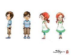 Character Design 1 - Kids by jfgallery.deviantart.com on @DeviantArt