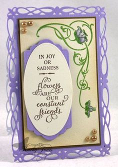 A Flower for Your Thoughts designed by Becca Feeken | JustRite Papercraft Inspiration Blog