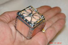1 x 1 x 1 Tiny Ring Stained Glass Box in Creamy by twillobee