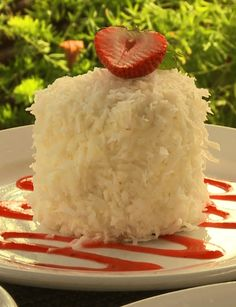 "VIDEO: This coconut cake both looks and tastes delicious. It's on the menu at Arcadia Farms which was profiled in the ""French Country Garden"" episode of Step Outside."