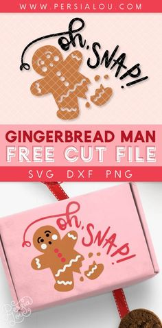 Adorable broken gingerbread man Christmas SVG cut file - use this design to craft with your Silhouette or Cricut machine Christmas Sewing, Christmas Svg, Christmas Printables, Christmas Time, Christmas Ideas, New Year's Crafts, Vinyl Crafts, Vinyl Projects, Diy Presents