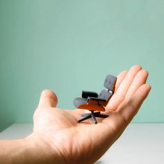 3D Printed Mini Eames Lounge Chair - mashKULTURE