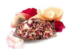 Wild Orange Blossom Herbal Tea mixed with black monkey, is favorite Teavana tea combo, low in tannins