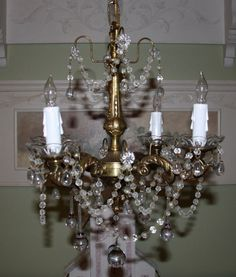 Beaded vintage French chandelier by lauralynns on Etsy, $325.00
