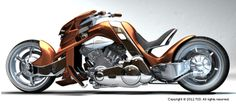 """Artist drawings for Steve Leach's bike """"Beond"""" or The Transformer is based on a Harley V-Rod engine. Read the full story: http://motorbikewriter.com/radical-harley-v-rod-movie-star/ Photos by David Cohen (www.ultragraphics.com)"""