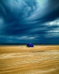 Moana Beach Before Storm - Australia by James Yu