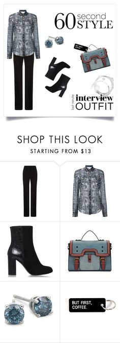 """""""First impressions"""" by annacullart ❤ liked on Polyvore featuring BOSS Hugo Boss, Balmain, Kurt Geiger, contestentry, jobinterview and 60secondstyle"""