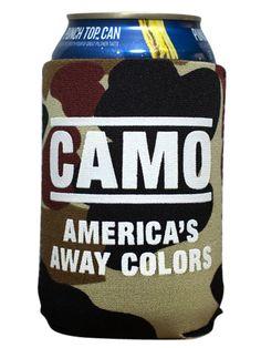 Rowdy Gentleman Camo: America's Away Color Koozie