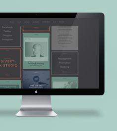 Sivert Høyem - Website and Visual Identity by Anti, via Behance