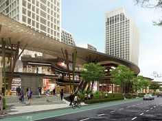 Southeast asia new proposals and u/c projects - page 310 - skyscrapercity Entrance Design, Facade Design, Architecture Design, Highway Architecture, Condominium Architecture, Shopping Street, Street Mall, Mix Use Building, Building Design