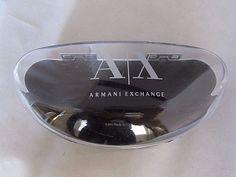 Armani Exchange Sunglasses Case Black Hard Hinged Designer Eyewear Holder #Armani