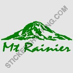 mount rainier outline - Google Search