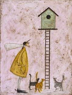 Hey Cats, It's a Birdy House! by Sam Toft