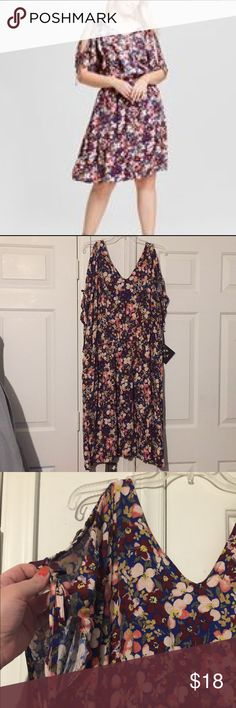 4ba05a94aebcf NWT PlusSize 2x Ava Viv floral cold shoulder dress NWT