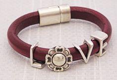 Regaliz Leather Bracelet Antelope Beads
