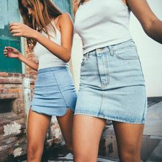 Really want a denim skirt like these ❤️