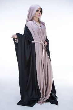 stunning Two Tone Style abaya for ladies (7)