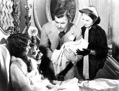 Scarlett O'Hara, Rhett Butler, and Melanie Wilks in Gone With the Wind