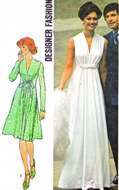 1970s Dress Pattern Simplicity 6672 Empire Waist by paneenjerez, $10.00