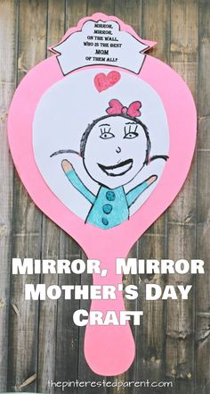 Printable Mirror Craft For Mom Free printable templates. Mirror, mirror on the wall, who's the best mom of them all. Mother's Day craft and gift idea for kids to make. Available for grandma and custom. Kids Crafts, Diy Mother's Day Crafts, Mothers Day Crafts For Kids, Fathers Day Crafts, Mother's Day Diy, Preschool Crafts, Spring Crafts, Mothers Day Cards Craft, Mothers Day Card Template