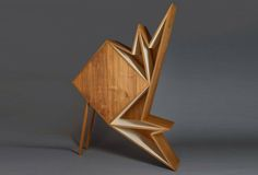 We've seen different objects shaped according to the principles of origami, but these beautiful furniture pieces by Dubai-based designer Aljoud Lootah use timber in an unexpected way that looks both playful and surprisingly practical.| Inhabitat - Sustainable Design Innovation, Eco Architecture, Green Building
