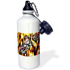 3dRose Water Bottle Picturing Harley-Davidson® Motorcycle
