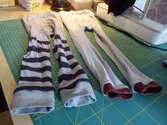 Strumpfhosen gerettet mit Rest-Bündchen / Save my tights with leftover cuffs / Upcycling