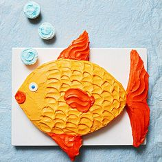 We think this cute Tropical Fish Cake will be a hit at your summer get-togethers! More creative cakes: http://www.bhg.com/recipes/desserts/cakes/birthday-cakes-for-kids-recipes/?socsrc=bhgpin050213fishcake