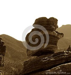 Photo about A sepia vintage image of the famous balanced rock in the state park of colorado springs named the Garden of the Gods. Image of balanced, rocky, image - 79525759 State Of Colorado, Colorado Springs, Balanced Rock, Vintage Images, Beautiful Landscapes, State Parks, Garden, Outdoor, Vintage Pictures