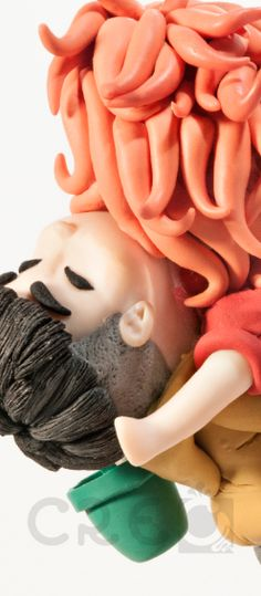 #Sosuke e la paffuta #Ponyo. #sculpture #polymerclay #creo #creocreativa