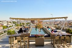 Rooftop Bar of Circulo de Bella Artez (21 Remarkable Things to Do in Madrid Spain).