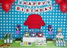 Blues Clues Birthday Party Ideas- Table Decor & Food