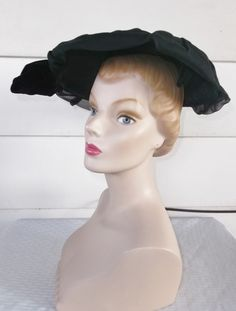 Please like my Facebook Page http://www.facebook.com/MyVintageHatShop for exclusive discounts and promotions.    Lovely vintage wide brim hat
