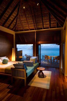 Resort 5 estrellas en las islas Maldivas.