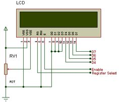 LCD 4-bit connections