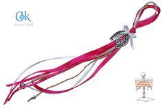 Silver horseshoe 16 pink (055)