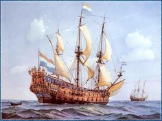 Navy Ships, Titanic, Vintage vessels reprint photo 2 sizes to pick from 032 Anglo Dutch Wars, Holland, Royal Dutch, Bateau Pirate, Old Sailing Ships, Ship Of The Line, Ship Paintings, Naval History, Wooden Ship