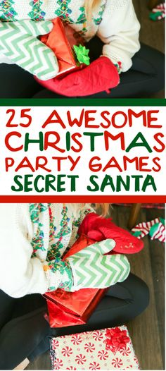 25 funny Christmas party games that are great for adults, for groups, for teens, and even for kids! 25 funny Christmas party games that Funny Christmas Party Games, Xmas Games, Holiday Games, Christmas Humor, Christmas Holidays, Christmas Gifts, Christmas Wrapping, Christmas Ideas, Christmas Decorations