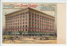 The Grand Leader Building, St Louis, Missouri, 1909  |  vintage postcard