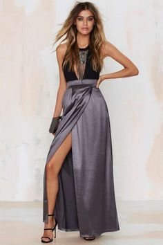 Twin Sister Sleekin' Out Maxi Skirt - Back In Stock | Dark Romance | Dark Romance | Midi + Maxi | Bottoms