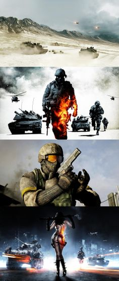 Battlefield, bad company, war, soldier, army, guns