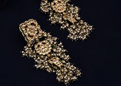 Handcrafted Luxury From Jaipur A luxury brand that meticulous artistry through timeless jewels and accessories. Indian Jewelry Earrings, Indian Jewelry Sets, Jewelry Design Earrings, Silver Jewellery Indian, Indian Wedding Jewelry, Wedding Jewelry Sets, Jewelry Bracelets, Antique Jewellery Designs, Fancy Jewellery