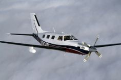 Piper Meridian above the clouds. This aircraft is pressurized and can stay above 25,000 feet.