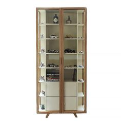 Case Furniture Vitrina Tall Cabinet - Oyster White