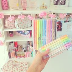Home accessory pencils school supplies kawaii kawaii accessory pastel stationary Kawaii Accessories, Home Accessories, School Suplies, Cute Desk, Cute Stationary, Kawaii Room, Cute School Supplies, Kawaii Stationery, Girly Things