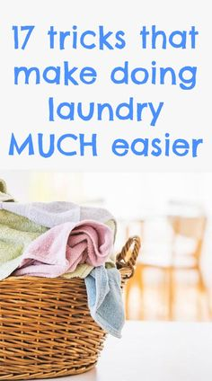 Make laundry much easier with these smart tips and tricks