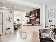 Scandinavian Interior Apartment With Mix Of Gray Tones