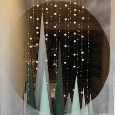 Oh, I had fun with this one! Planning a window display is fun but slightly stressful, I get a million ideas whizzing around in my. Hannah Zakari 2015 Winter Window Display Made to look like a snowy mountain scene inside a snowglobe Retail Windows, Store Windows, Winter Window Display, Christmas Window Display Retail, Christmas Store Displays, Vitrine Design, Christmas Window Decorations, Christmas Garlands, Store Window Displays